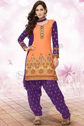 Pastel Orange Cotton patiala  Suit.  Design No. Dm-12532, Price : RM149.00,  Quick Overview:- Dress Style:Patiala  Suit, Dress Type:Semi Stitched, Fabric:Cotton, Colour:Pastel Orange , Embellishments:Designed with Kasab, Resham, Zari work.  For More Details Visit @ http://www.andaazfashion.com.my/salwar-kameez/patiala-suits/pastel-orange-cotton-patiala-suit-dm12532.html