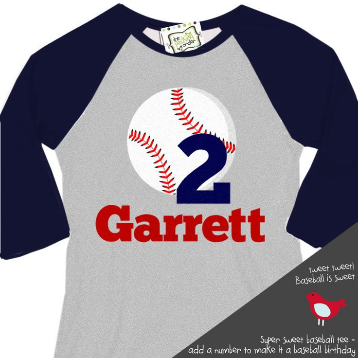 Personalized baseball birthday shirt with or without age for Custom raglan baseball shirt