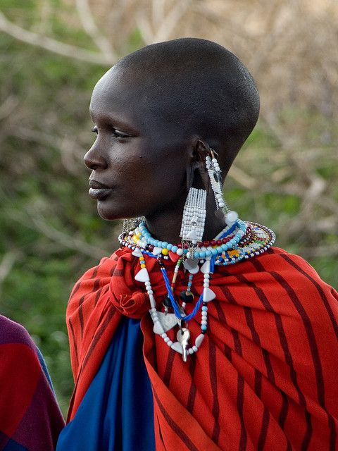 african-style:  Maasai Woman by wwarby on Flickr. Via Flickr: Maasai woman in traditional clothing and jewellery in the Serengeti National Park, Tanzania