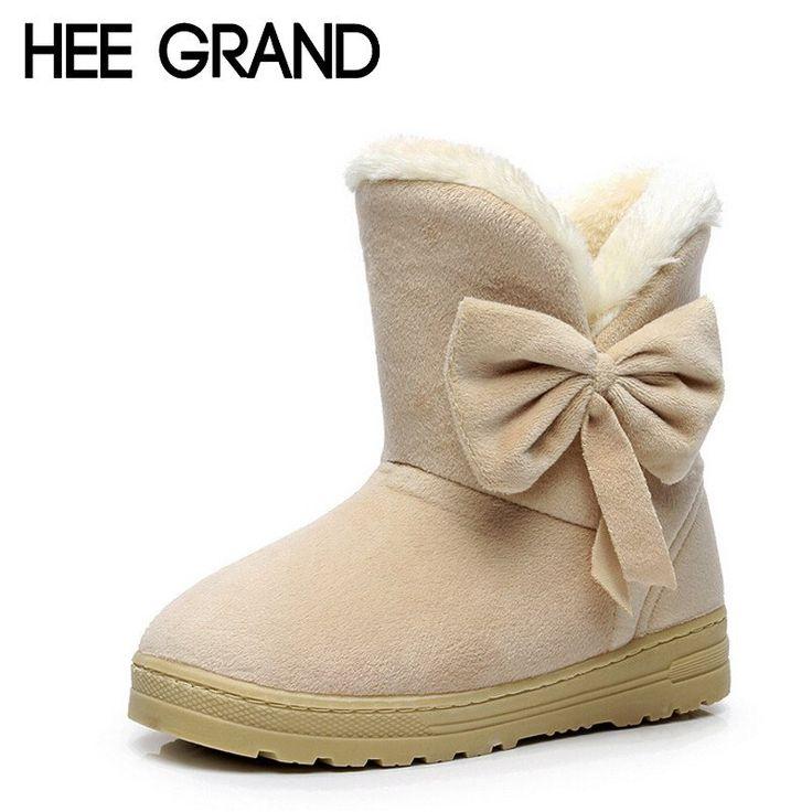 Winter Snow Boots Bowtie Womens