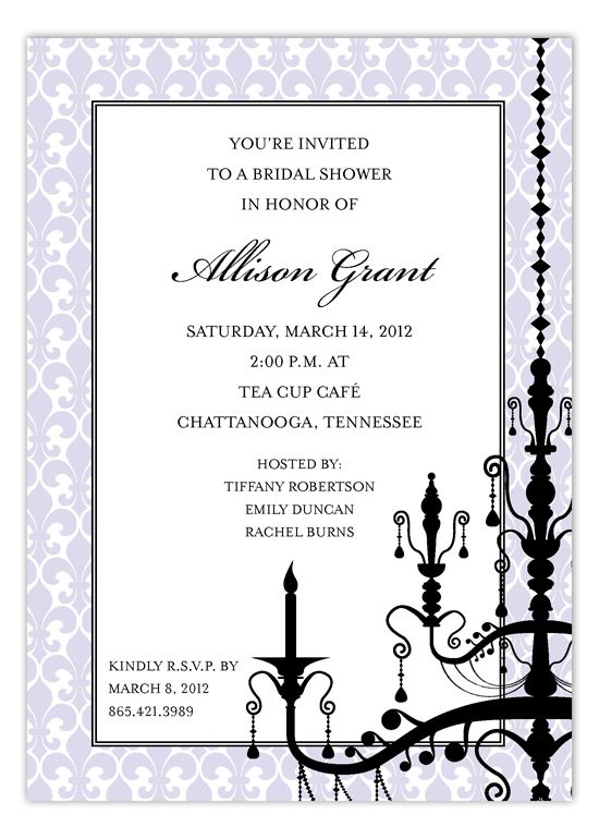 Best Bridal Luncheon Invitations Images On   Bridal