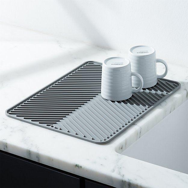 Silicone Grey Dish Drying Mat In 2020 Dish Drying Mat Dish Rack Drying Dish Racks