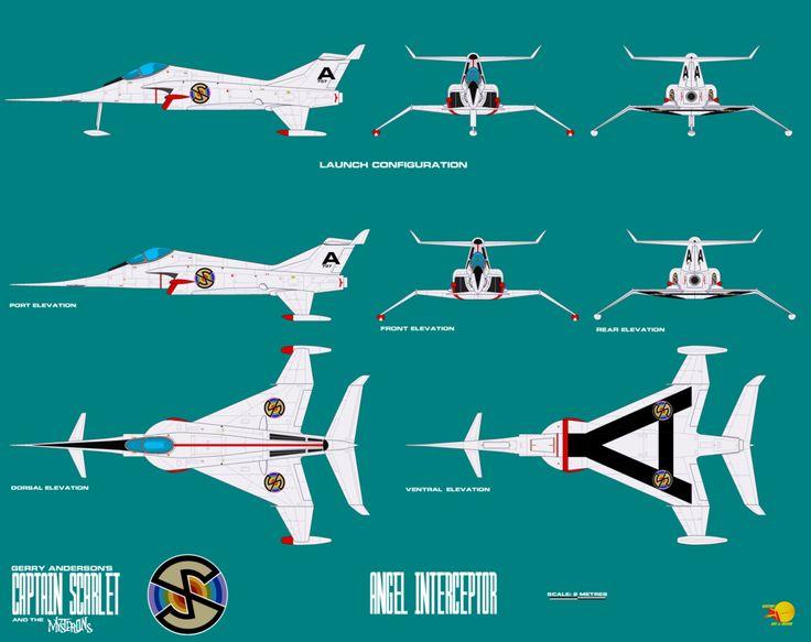 Gerry Andersons Captain Scarlet Angel Interceptor by ArthurTwosheds.deviantart.com on @DeviantArt