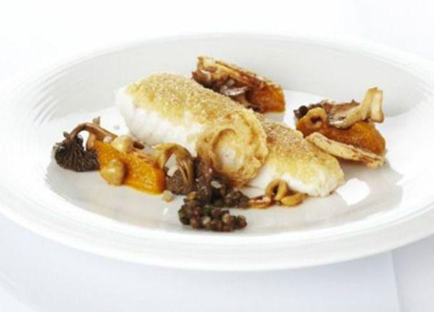 Zeeduivel op hazelnoten gebakken, butternutpuree, bospaddenstoelen en linzen - Recepten - Culinair - KnackWeekend Mobile