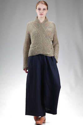 Daniela Gregis | hip length cardigan in garter stitch linen | #danielagregis