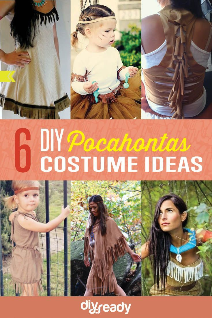 DIY Pocahontas Costume Ideas | Easy And Sexy Costume For Girls by DIY Ready at http://diyready.com/diy-pocahontas-costume-ideas/
