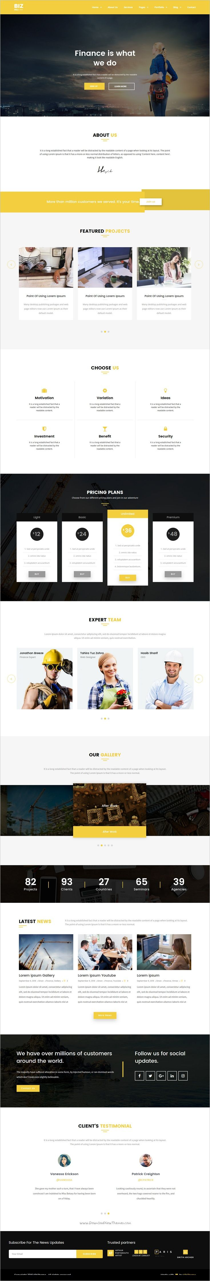 BizPro is a wonderful responsive #WordPress theme for stunning #company website #webdev with 5 multipurpose homepage layouts download now➩ https://themeforest.net/item/bizpro-multipurpose-agency-wordpress-theme/18303811?ref=Datasata
