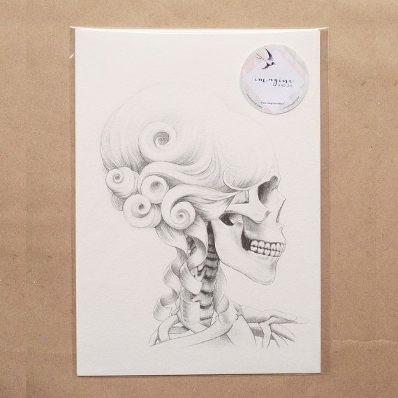 Collage Sketch Scully Antoinette A4 by ImagineAndDoHelsinki, €11.90