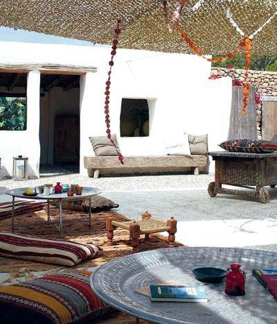 ibiza style terrace