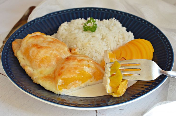 Gyors, sajtos-őszibarackos csirkemell | Rupáner-konyha