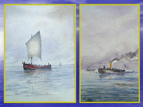 Outras marinhas, e uma a vapor