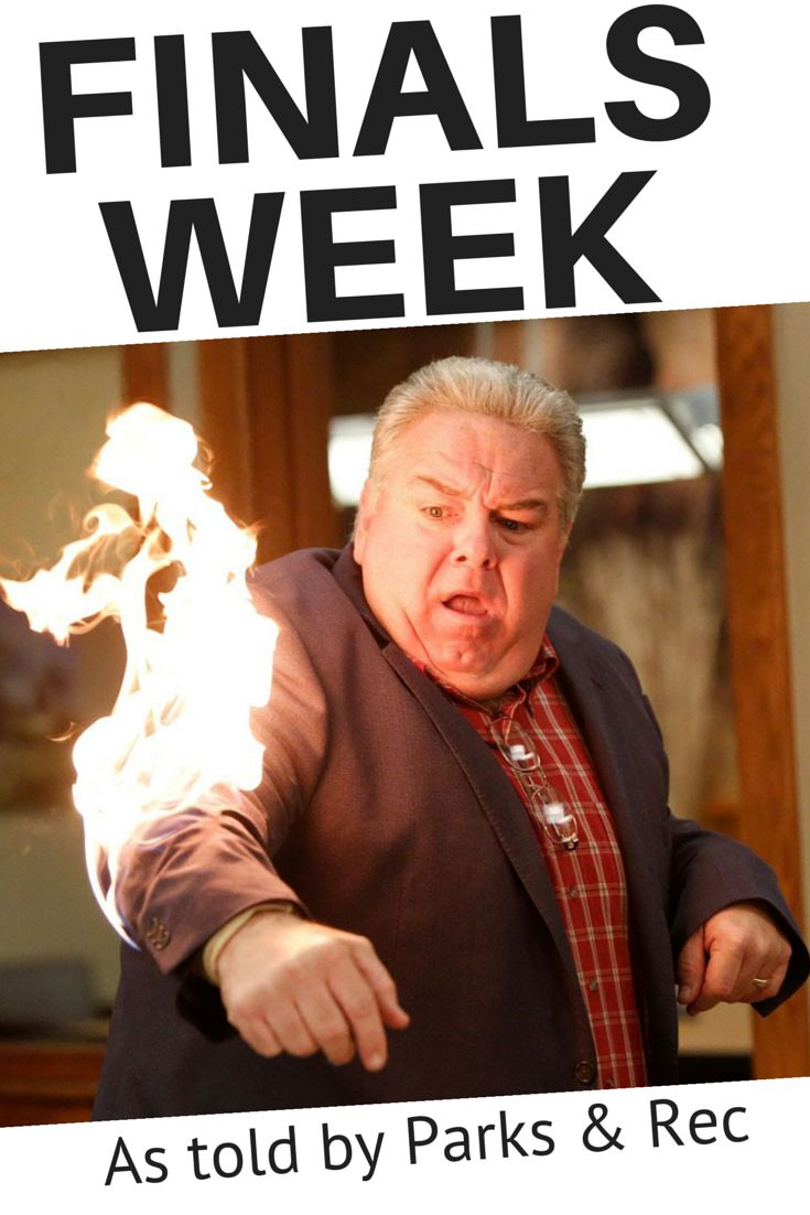 Finals Week: As told by Parks & Rec GIFs THIS IS HILARIOUS!