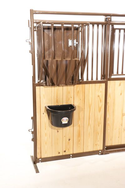 This heavy plastic bucket can be easily mounted inside the stall using the Premier Horse Stall Feeder Bracket to make feeding your horse quick and easy.