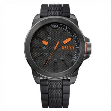 1513004 HUGO BOSS ORANGE Ανδρικό fashion quartz ρολόι HUGO BOSS ORANGE με μαύρο καντράν & μαύρο καουτσούκ | Οικονομικά BOSS ρολόγια ΤΣΑΛΔΑΡΗΣ Χαλάνδρι #Boss #orange #σιλικονη #ανδρικο #ρολοι
