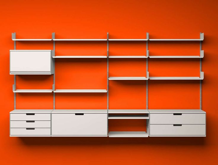 Red Unusual Shelving Units Design ~ http://www.lookmyhomes.com/unusual-shelving-units-to-keep-your-books/