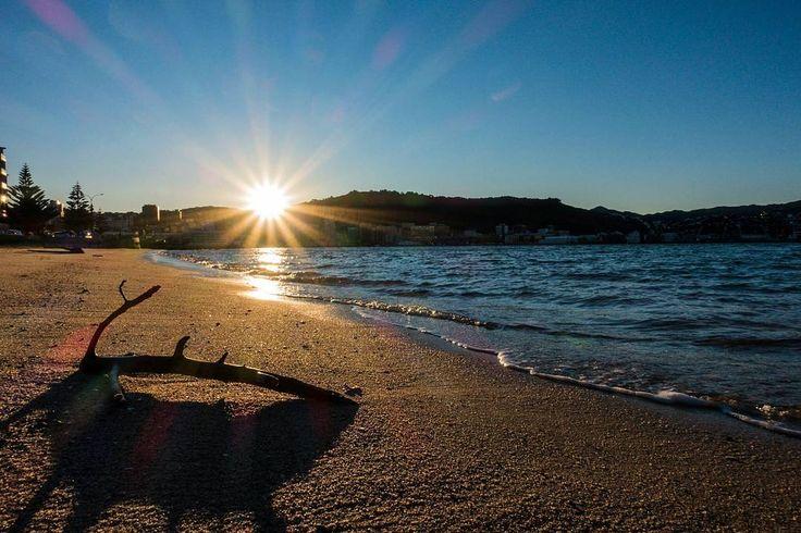 Sunset along Oriental Bay last weekend... 📷 . . . . .  #Wellington #newzealand…