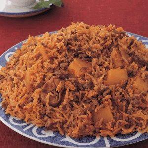 Saudi Rice with Lamb and Potato Recipe - Hot make Saudi Rice with Lamb and Potato