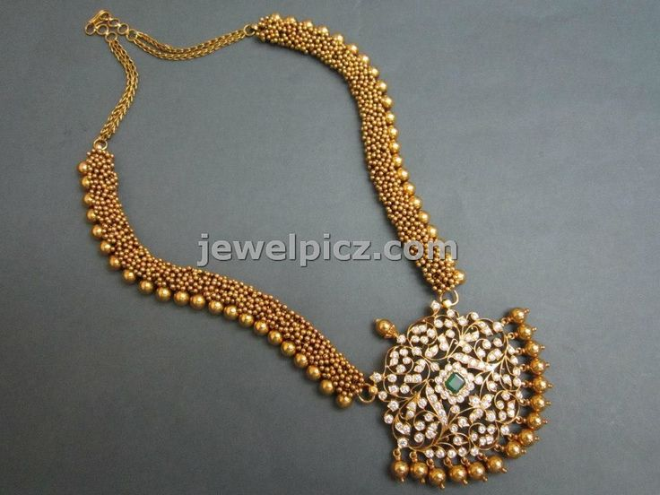 Latest Indian Jewellery designs: Tibarumal jewellers temple necklace collection