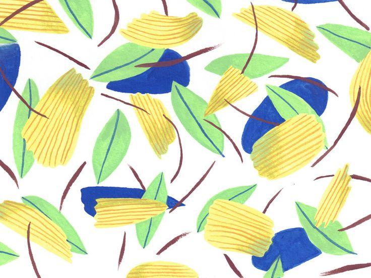 Picnic Spot, chip pattern, Sophie Oiseau.
