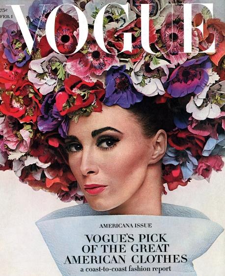 Wilhelmina.  Vogue US, February 1964.