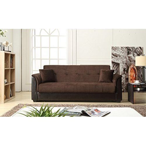 Convertible Futon Sofa Bed w/ Storage Home Furniture Living Room Soft Fabric NEW #HomeFurniture #Modern