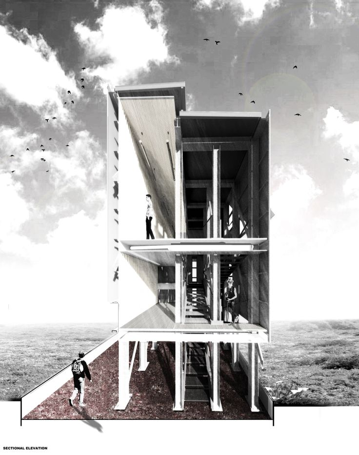 Tower - Climate change observatory he towers  allow for observation and surveillance along the route. These architectural  interventions act as outposts and markers to observe the surrounding historical  site.