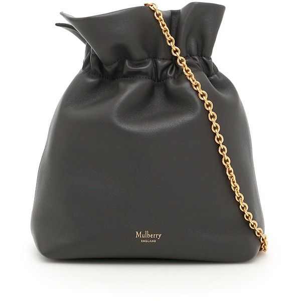 Lynton Mini Bucket Bag ($670) ❤ liked on Polyvore featuring bags, handbags, shoulder bags, ruffled handbags, mulberry shoulder bag, mini purse, ruffle purse and mulberry handbags