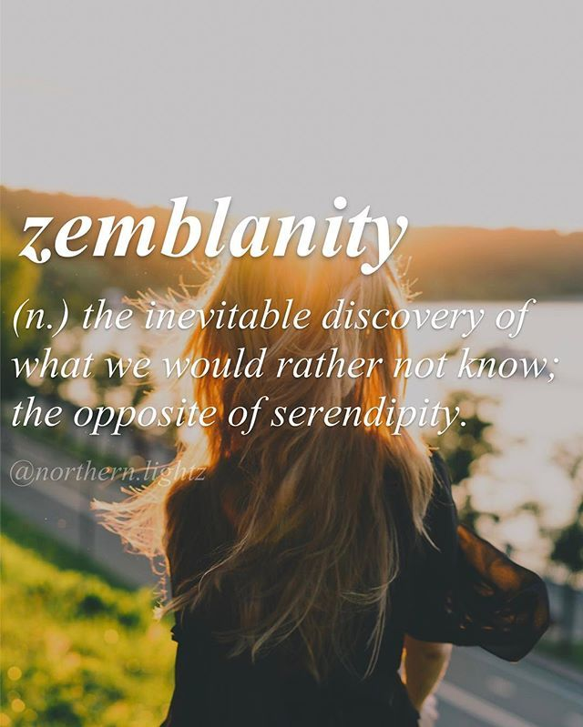 When serendipity becomes zemblanity