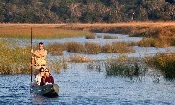 Mokoro trip on a nature getaway at Makakatana Bay Lodge in KwaZulu-Natal http://exclusivegetaways.co.za/getaway/makakatana-bay-lodge/