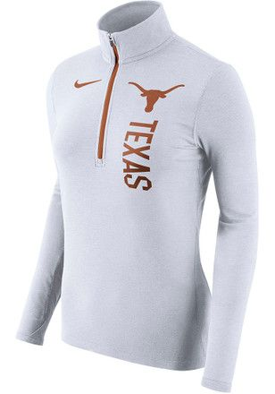 Nike Texas Longhorns Womens Element White 1/4 Zip Pullover