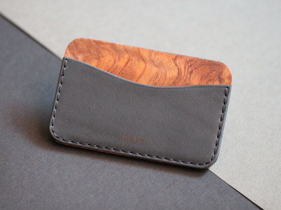 CLYH Curved wallet made by Ingenious Bros.  - Dakota leather(La Perla Azzurra Company, Tuscany, Italy) - Bubinga(Waterfall grain) and Cherry Hardwood Selected by I.B. - Characteristic Edge and surface sanding with 7 different sandpapers by I.B. - Handmade hard Black Box for gift, made by I.B.  - Hold Maximum 6~10 cards. - Size: 10.3cm x 6.5cm (little bit bigger than credit card)   *Please check Shipping & Refund Policies before you checkout. ※EMS Shipping requires your phone number, so…