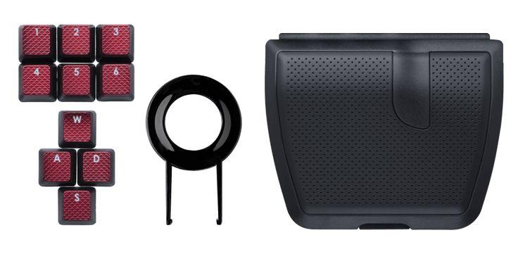 FPS Backlit Key Caps, Keycap Puller, and Palm Rest