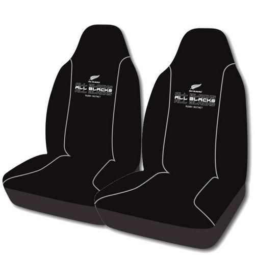 All Black Rugby Car Seat Covers