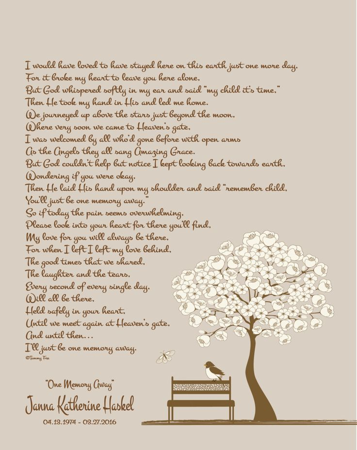 Christmas Memorial Gift - Loss of Son- Loss of Daughter - Loss of Husband - Loss of Wife - Christmas from Heaven - One Memory Away Poem by foxcreationsonline on Etsy https://www.etsy.com/listing/561937310/christmas-memorial-gift-loss-of-son-loss