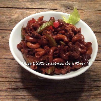 Les plats cuisinés de Esther B: Macaroni chinois