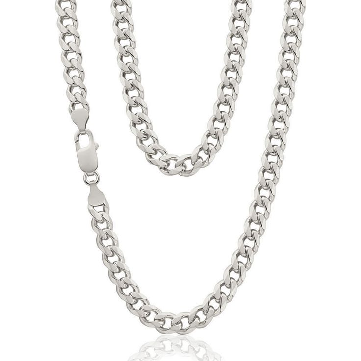 necklace avaialbe curb sterling italian dp inches silver chain