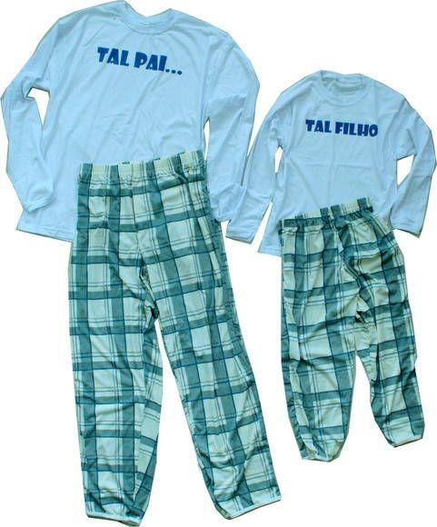Pijama Tal pai Tal filho ou filha Manga longa  Tamanhos:  Adulto: P, M, G, GG, EG Infantil: 1, 2, 4,  6, 8, 10 anos   (Camiseta 100% algodão, fabricação própria, de excelente qualidade, com desenhos exclusivos e originais,fio 30, que é um fio com textura e toque macio. Estampada com método silk screen).  Para ver mais produtos acesse o link da loja virtual: http://elo7.com.br/contemideia ou nosso site: www.contemideia.com.br  Para encomendar tamanho especial, outras cores, ou outras…