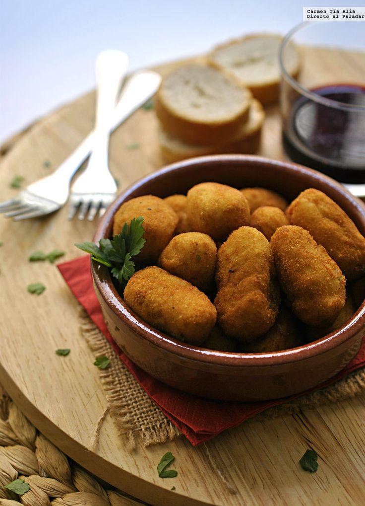 receta de croquetas de bacalao y patata.