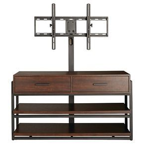 """Not usually in love with these sort of pieces, but it would make it easier to mount a TV at the stairway. Mixed Material 3-in-1 TV Stand 48"""" - Threshold™"""