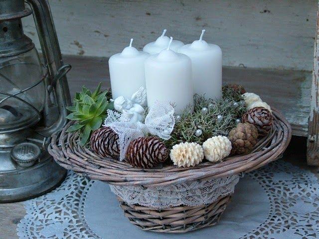 Adventsgesteck/Adventskranz - Womanly: Különleges adventi koszorúk