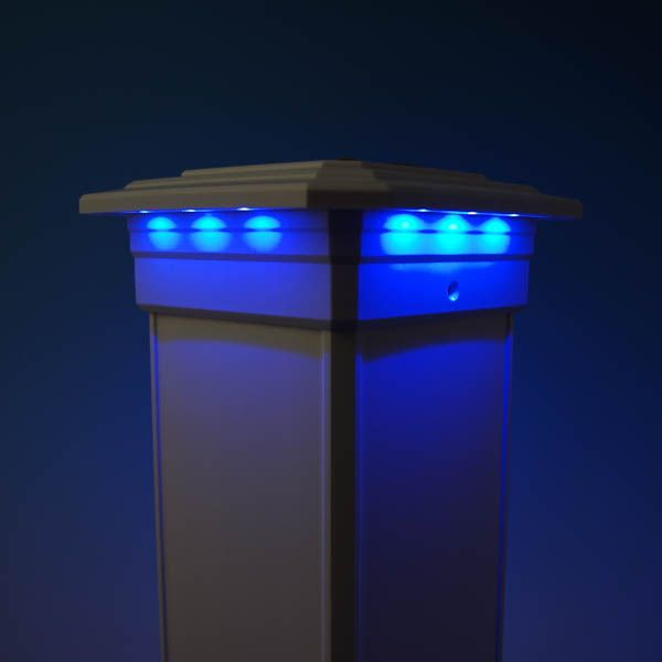 Solar Post Cap Light For Timbertech Radiancerail Post Sleeves By