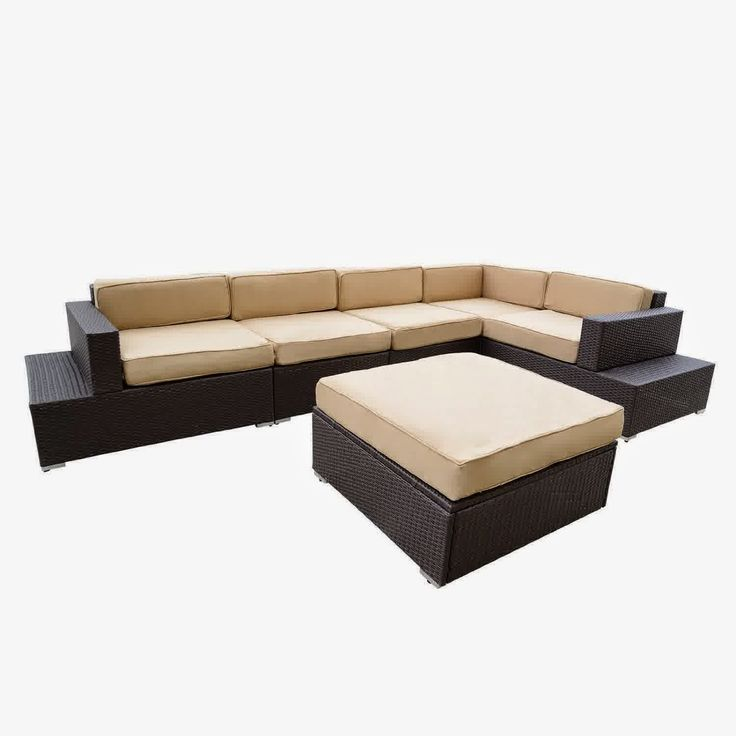 Outdoor Patio Rattan Sofa Wicker Sectional Furniture Sofa Set