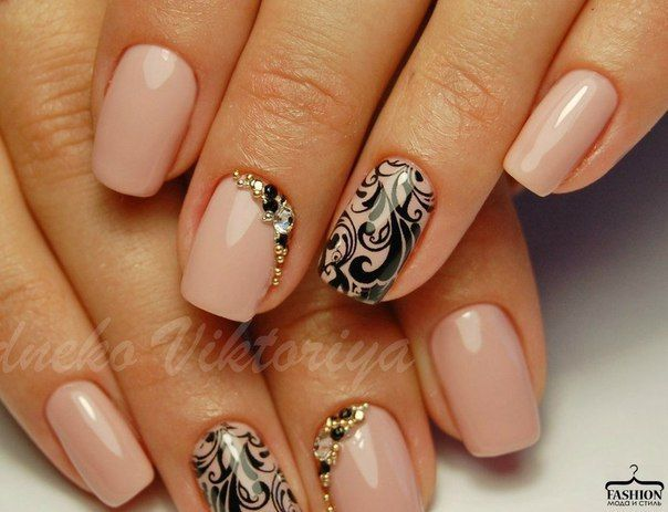 Evening dress nails, Evening nails, Evening nails by gel polish, Evening short nails, Ideas of evening nails, Monogram nails, New Year nails 2017, New years nails