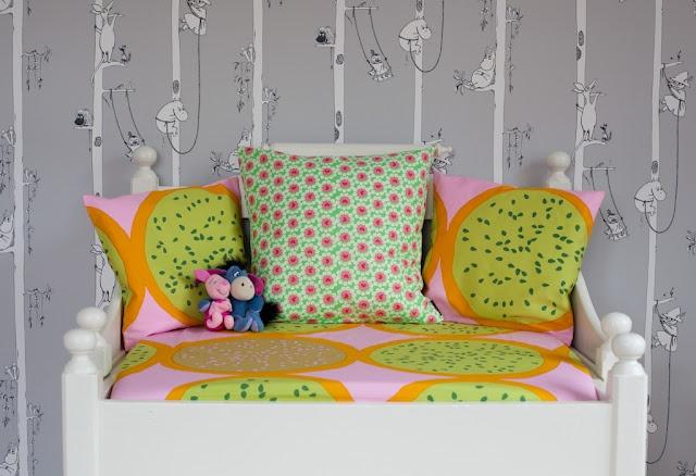 Moomin wallpaper and fabric from Marimekko.