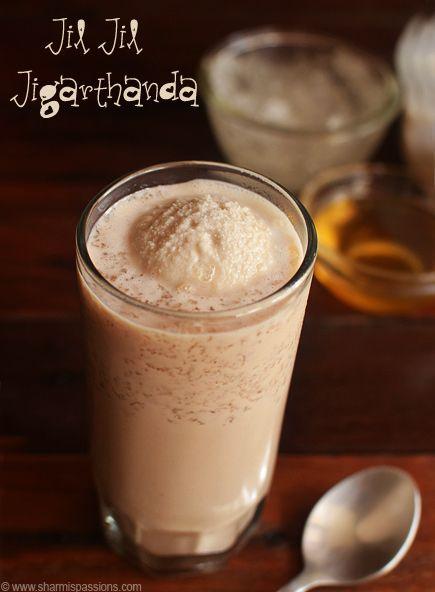 Jigarthanda Recipe - Madurai Special Jil Jil Jigarthanda | Sharmis Passions