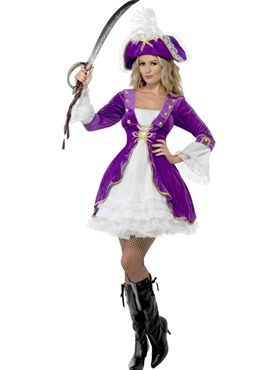 Adult Purple Pirate Beauty Costume by Fancy Dress Ball