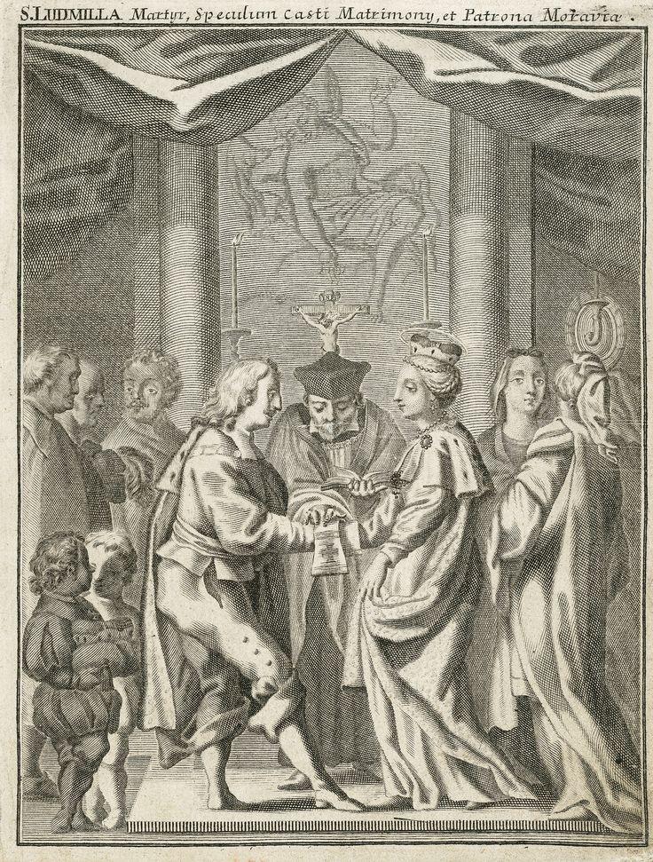 Sňatek svaté Ludmily s knížetem Bořivojem (Saint Ludmila of Bohemia), 18. století