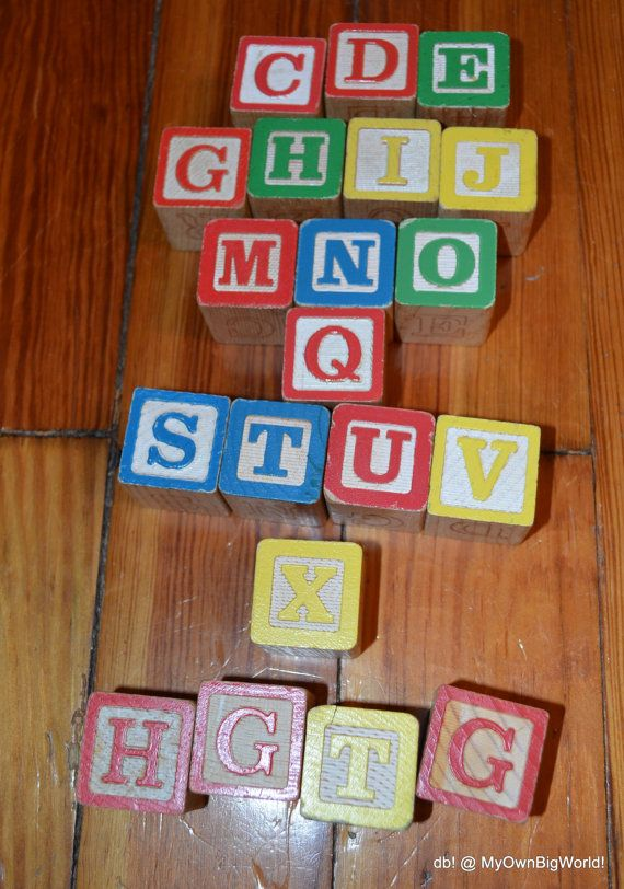 Love putting these around my house to add a bit of fun and color...whether they are in a jar, basket or spelling out words!  Vintage Alphabet Wood Blocks Retro 20 Wood Blocks Decor Art Craft Supplies