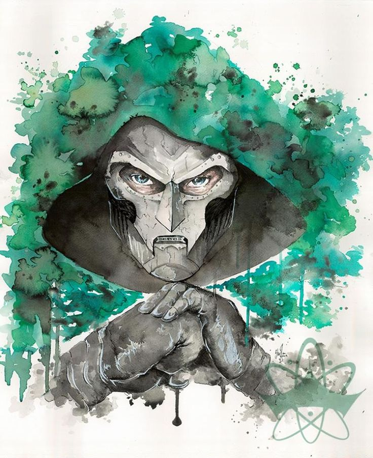 """• All hope lies in Doom •  My christmaspresent for my boyfriend.  Dr. Doom is his favorite super villain (""""HERO"""" he exclaims), so of course i had to paint him."""
