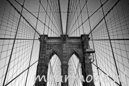 Vlies fotobehang Close-up Brooklyn Bridge
